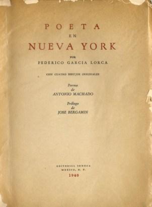 Poeta en Nueva York_Federico Garcia Lorca